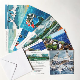 Coastal Art Card Multipack