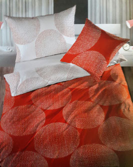 Satin Bettwäsche TOP MARKE LOTUS Double Face Ponto Rot