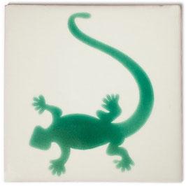 OC Gecko Grün - 11x11 cm - Mexiko Fliese