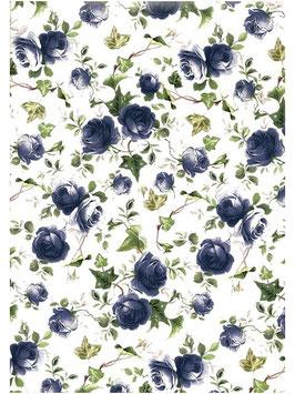 BLUE IVY ROSE CHINTZ