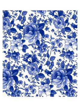 BLUE CHATSWORTH CHINTZ