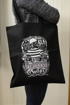 Stofftasche Sailor Schwarz