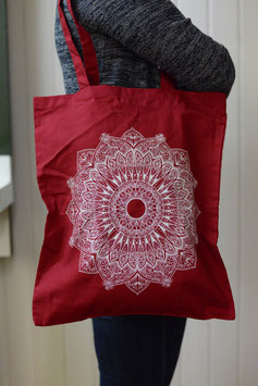 Stofftasche Mandala (weinrot)