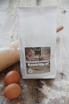 Schwarzwälder Bauernbrot - Backmischung 1 kg.- aus der Elzacher Mühle - 2 Brote