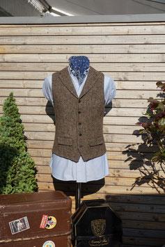 Harris Tweed Weste -grün/braun Fischgrat-