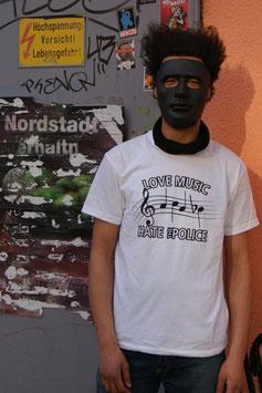 "T-Shirt (Weiß) Musiknoten ""ACAB"""