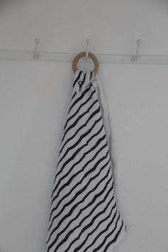 Schmusetuch Schwarz/Weiß Streifen