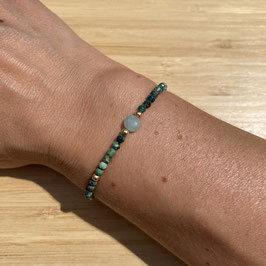 Bracelet doré Turquoise Africaine 3mm, REF: BD53-04