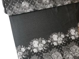 Trachtenjacquard Rapportstoff schwarz grau silber J10084