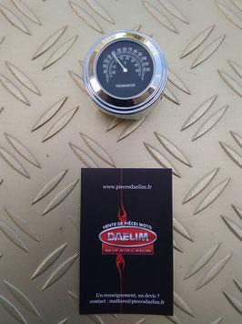 thermomètre à cadran noir pour  guidon