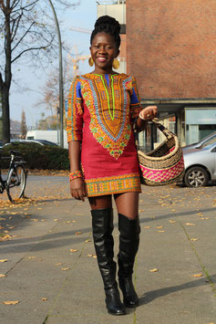 Dashiki shift dress