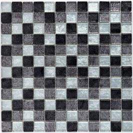 Mosaico Foglia 23mm Argento Mix