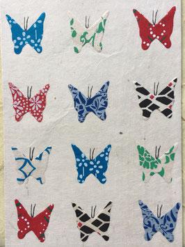 Postkarte Schmetterlinge, weiß