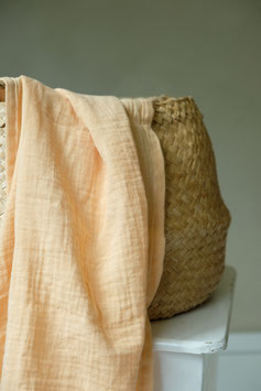 ORGANIC COTTON SWADDLE - APRICOT