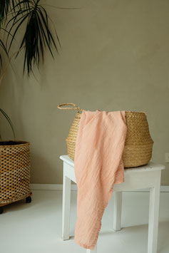 ORGANIC COTTON SWADDLE - ROSE