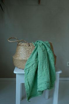 Organic Cotton Swaddle - Fresh Sage