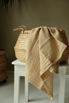 Organic Cotton Swaddle - Sand