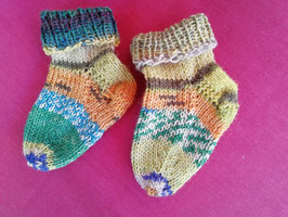 Baby-Socken * bunt grün-orange
