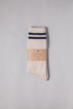ひつじウール100% 薄手 (オフホワイト)  Sheepwool socks 羊毛靴下 保温性抜群・蒸れない・あったか!