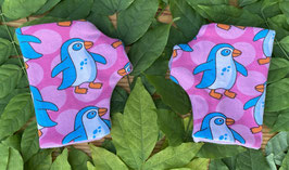 Pinguinliebe rosa - Fingerlose Handschuhe Gr. 1