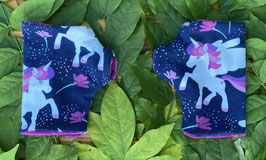 Pegasus/Einhorn dunkelblau - Fingerlose Handschuhe Gr. 1