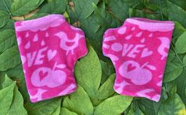 Love pink - Fingerlose Handschuhe Gr. 1