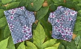 Kirschblüten grau - Fingerlose Handschuhe Gr. 1