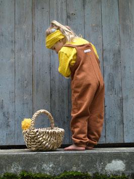 VILLA SEPIA: Latzhose LASSE aus Sweat/ Jaquard