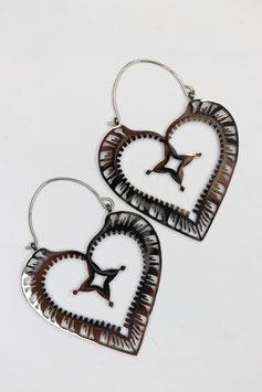 Creolen heart Style silber
