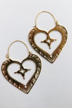 Creolen Heart Style gold