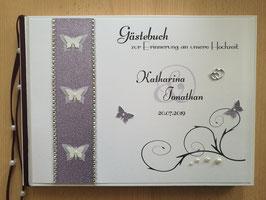 Gästebuch zur Hochzeit 3 Schmetterlinge