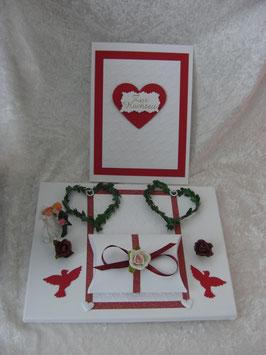 Geldgeschenk mit Grußkarte zur Hochzeit GPH01