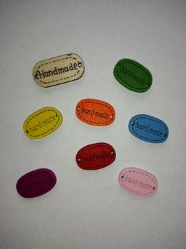 Holz Label bunt