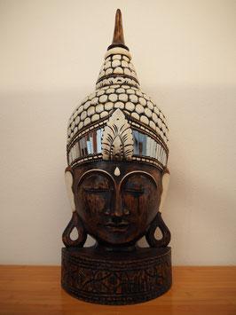 Buddha Wandmaske, mit Standfuss -MK 3-