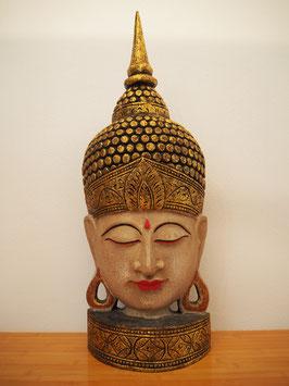 Buddha Wandmaske, mit Standfuss -MK 8-