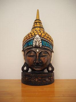 Buddha Wandmaske, mit Standfuss -MK 10-