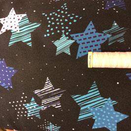 Softshell Sterne schwarz-blau