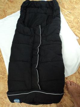 572 Kinderwagen Wintersack schwarz abgesetzt mit grau von URRA