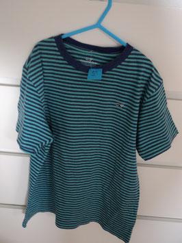 179  Shirt grün blau gestreift mit Wal von VINEYARD VINES Gr. L