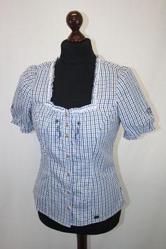 Karo-Bluse blau
