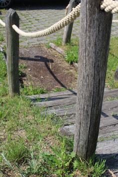 Terassenbegrenzung durch Seile ø20 mm
