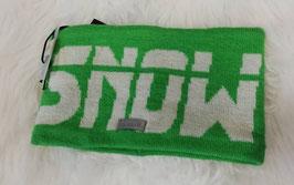 Kopfbedeckung - Stirnband grün mit weißer Schrift - winddicht - NAME IT KIDS BOY