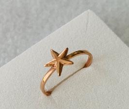 Silberring Stern rosé vergoldet - UNIK