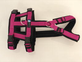 annyx Safety Geschirr schwarz/ pink