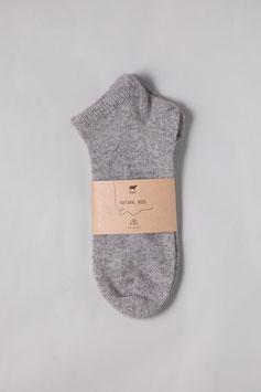 ひつじウール100% (Light Gray薄手・スポーツ)  Sheepwool socks 羊毛靴下 保温性抜群・蒸れない・あったか!