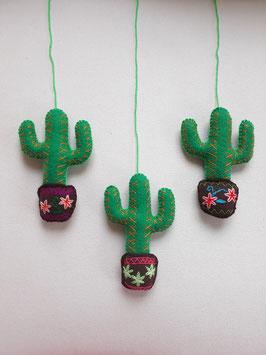 Kaktus Deko, bestickt (2)