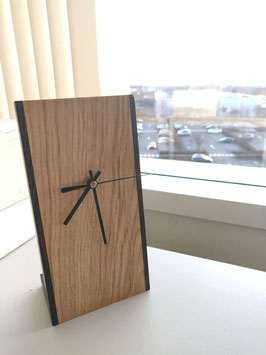 Desk Clock - Oak & Wenge sides