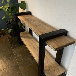 Sidetable special van staal en old wood
