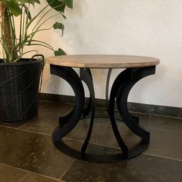 Salontafel gebogen staal en hout