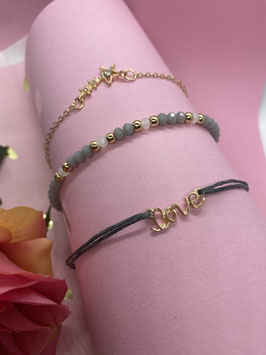 Een leuke set van drie armbanden